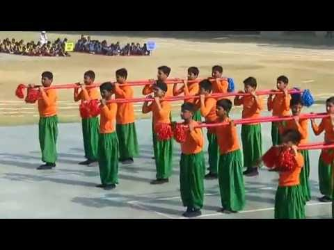 Bamboo Formation   Scholars Pride   Annual Sports Meet 2016
