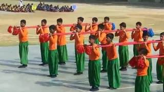 Bamboo Formation | Scholars Pride | Annual Sports Meet 2016