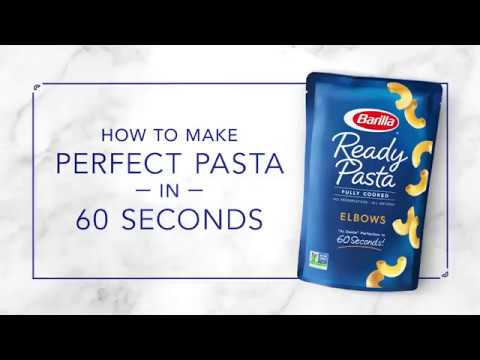 NEW Barilla Ready Pasta – Perfectly Cooked Elbows Pasta in just 60 Seconds