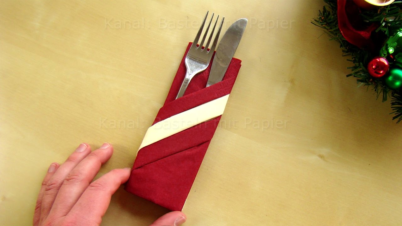 Tischdeko Servietten Napkin Folding Pocket How To Fold A Napkin Pouch Easy Tutorial