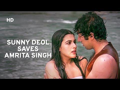 Sunny Deol & Amrita Singh Romance | Betaab | Hindi Romantic Movie