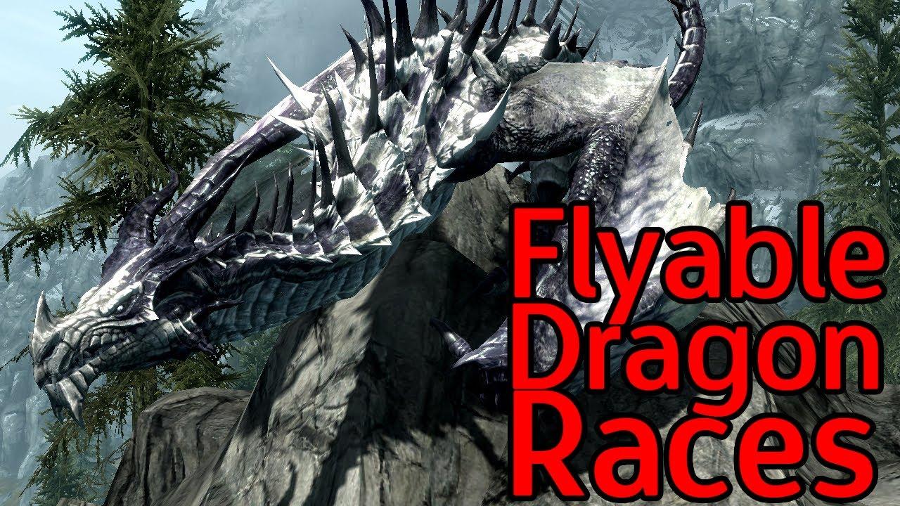 Skyrim Mods - Flyable Dragon Races - YouTube