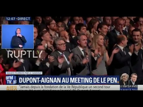 LIVE: Le Pen holds campaign rally in Villepinte