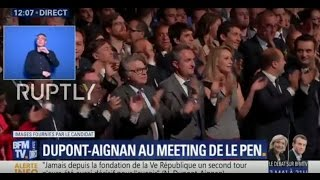LIVE  Le Pen holds campaign rally in Villepinte