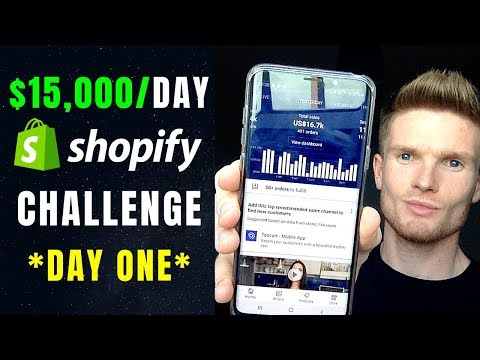 (Day 1) $0 To $15,000/Day Case Study | How To Build A Successful Shopify Dropshipping Store In 2019 thumbnail