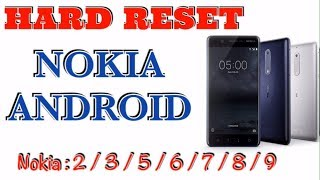 HARD RESET NOKIA 5 ANDROID 8.1.0