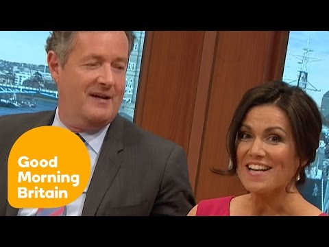 Piers Morgan Questions Susanna Reid About Her Relationship Status! | Good Morning Britain