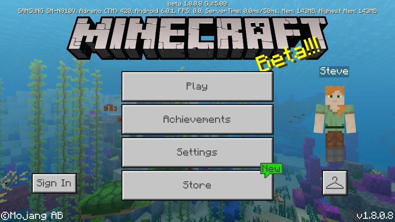 minecraft 1.8.7 gratuit pour android