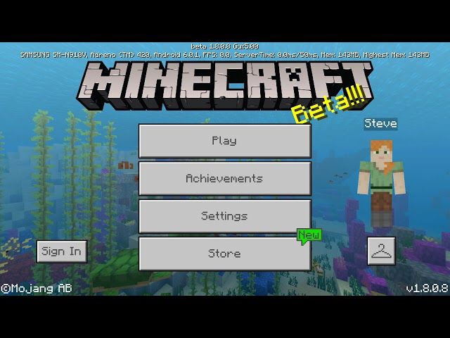 Minecraft PE 1.8.0.8 Apk - Free Android Download MCPE
