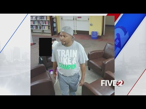 Lewd act in Oakwood library caught on camera