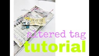CUTE and FAST altered tag that you can make in 30 min!  Great for beginners!  NSK shop 💖