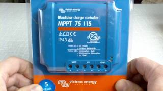 Installation of the Victron energy MPPT 75 15 Bluesolar charge controller
