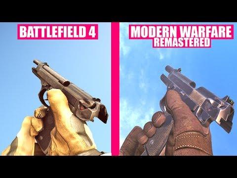 Battlefield 4 Gun Sounds vs Call of Duty Modern Warfare Remastered