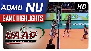 UAAP 78 WV: ADMU vs NU Game Highlights - January 31, 2016