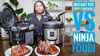 Ninja Foodi VS Instant Pot BBQ Rib Battle  Ninja Foodi Recipes
