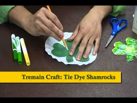 Crafty Creations 38: St Patricks Day Leprechaun Hats & Tie-Dye Shamrocks