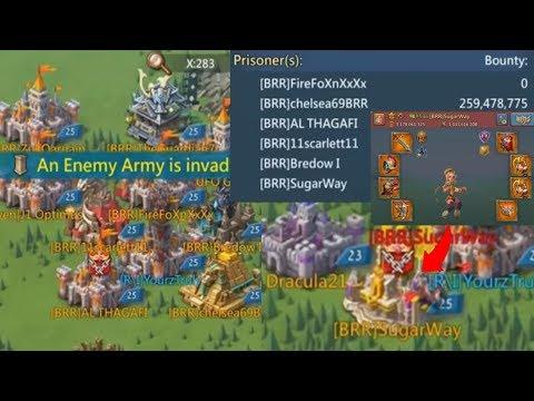 21 BRR Attacks Vs 1 R\I!   Lords Mobile