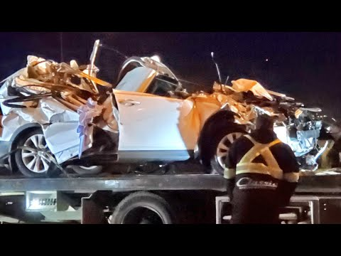 Toronto driver dies after car crushed by falling highway sign