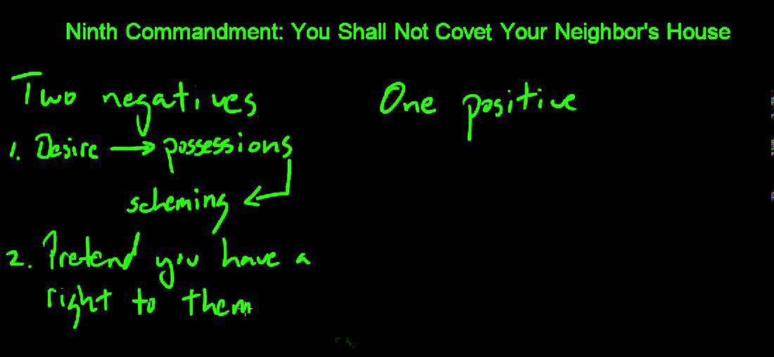 Ninth Commandment: You Shall Not Covet Your Neighbor's House - YouTube