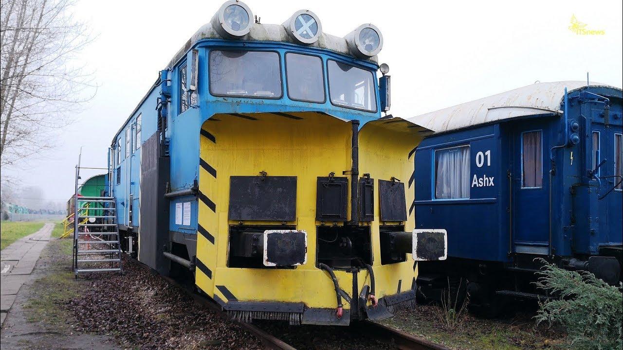 Pług odśnieżny lemieszowo-wirnikowy typu 414S. Stacja Muzeum. Muzeum Kolejnictwa.