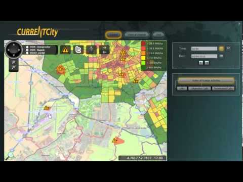 Currentcity Dashboard demo: Telecom anomalies over Schiphol Airport