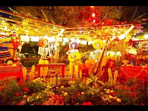 halloween decorations zocalo park frontierland disneyland resort california - When Does Disneyland Decorate For Halloween