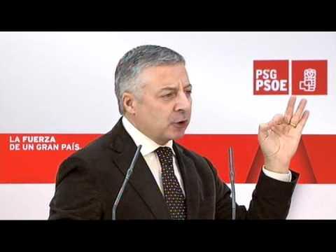13-03-11. José Blanco en la presentación del candidato a la alcaldía de Foz (Lugo)