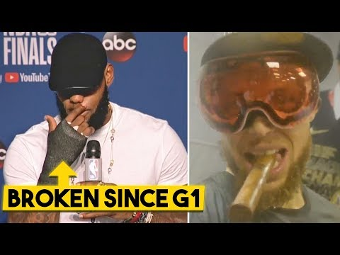 LeBron On BROKEN HAND & Upcoming Free Agency, Curry DOESNT CARE About No Finals MVP