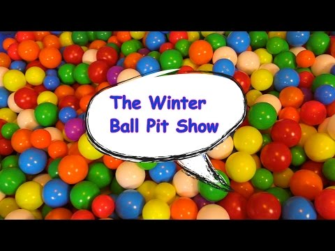 """The Winter Ball Pit Show"" for learning colors -- children's educational video"