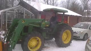 John Deere 1650 -20 Cold Start *great video*