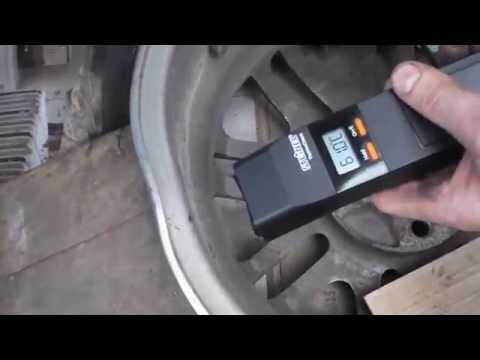 DIY Straightening a bent alloy rim in your driveway