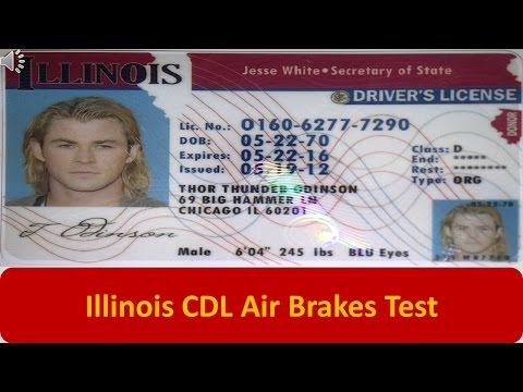 Illinois CDL Air Brakes Test