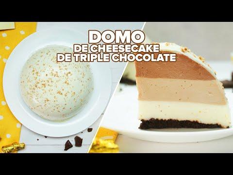 Domo de cheesecake de triple chocolate | Bien Tasty