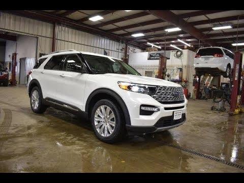 2020 Star White Metallic Ford Explorer Limited FT6802 Motor Inn Auto Group