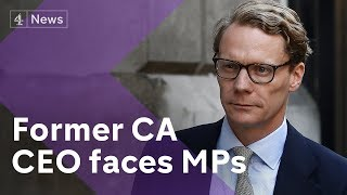 Former Cambridge Analytica CEO Alexander Nix faces MPs (full version)