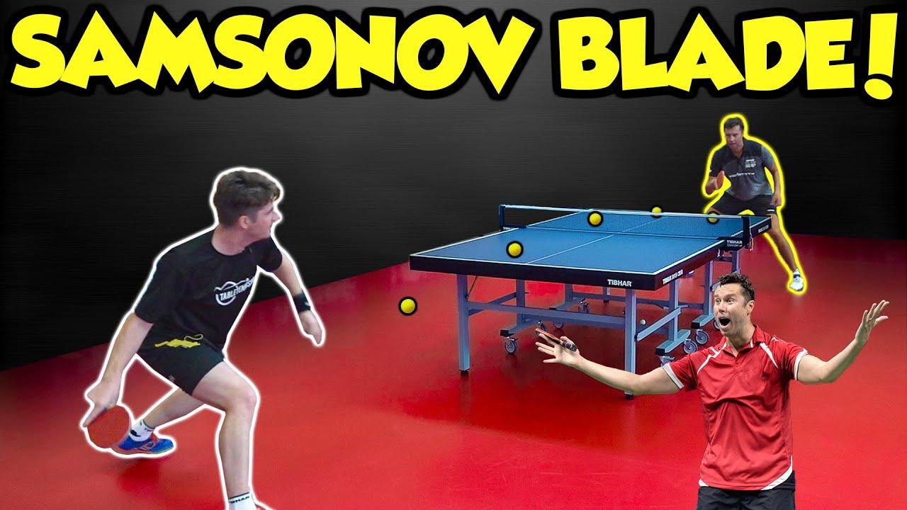 Download TESTING VLADIMIR SAMSONOV'S TABLE TENNIS BAT!