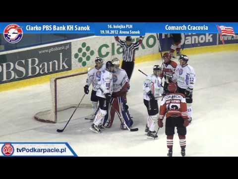 Mistrzowie Polski pokonują Cracovię 2:0. Debiut Wolskiego w KH Sanok