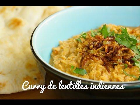 recette-curry-de-lentilles-indien-végétarien-ou-dhal-curry-(subtitled)