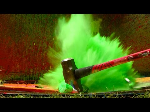 Download Youtube: Exploding Spray Paint at 2500fps - The Slow Mo Guys