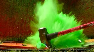 Exploding Spray Paint at 2500fps - The Slow Mo Guys(Gav and Dan seem to have lost their paint brushes. However, not all is lost. They are The Slow Mo Guys after all. Do not try at home! Subscribe to our 2nd ..., 2016-06-25T19:49:24.000Z)