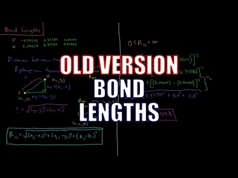 Computational Chemistry 1.6 - Bond Lengths (Old Version)