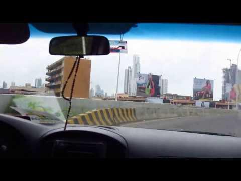 Driving through Panama City