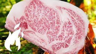 Wie du ein 200€ Japan Wagyu Steak in der Natur ASMR Style grillst 🔥🔥🔥
