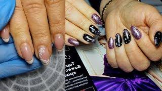 На зависть сорокам Новогодний Зимний дизайн ногтей 2020 Маникюр с блестками Градиентом Снежинками
