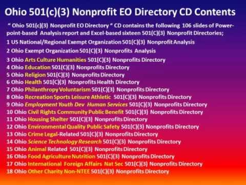 Introducing Ohio 501(c)(3) Nonprofits
