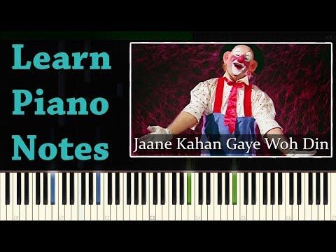 Jaane Kahan Gaye Woh Din - Piano Notes ( Mera Naam Jokar )