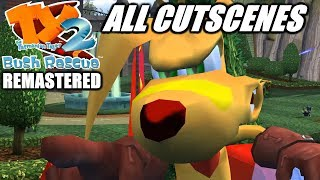 TY the Tasmanian Tiger 2: Remastered: All Main Story Cutscenes (Game Movie) (1080p)