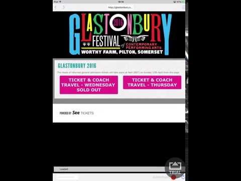 The Refreshinator in the Glastonbury tickets resale FULL video 10 seconds onto site.