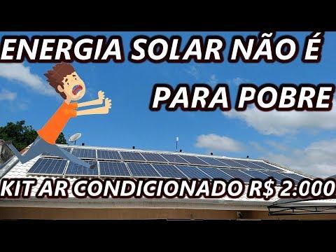 ENERGIA SOLAR NÃO É PARA POBRE PAPO FURADO