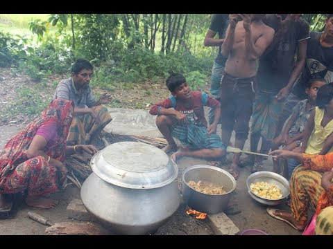 Village Food | Village boys picnic | Grandmother recipes-121